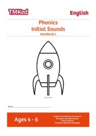EYFS/KS1 Phonics Workbook 1, Learn initial alphabet sounds (4-6years old)